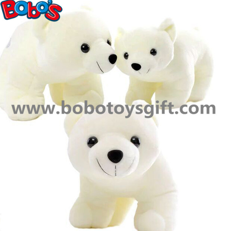 ASTM Approve Cuddly Stuffed White Color Polar Bear Animal Soft Toy