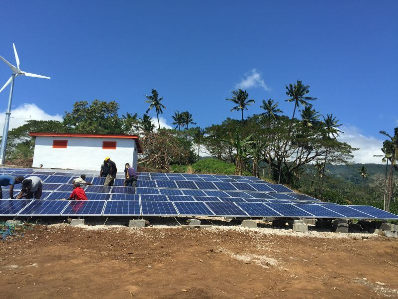 Professional off Grid System Solution Plan with Solar Wind Hybrid Power Supply