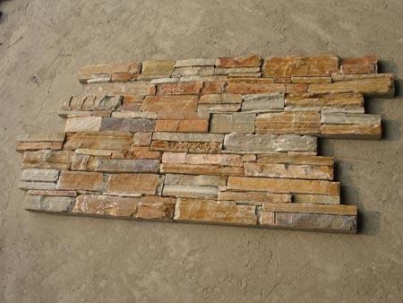 Slate naturale culture stone ledge stone stone veneer per - Parete in pietra naturale ...