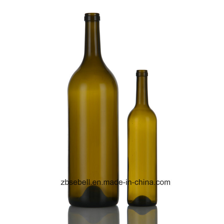 3L (3000ml) Bordeaux Corktop Big Glass Wine Bottle (06-wine bottle)