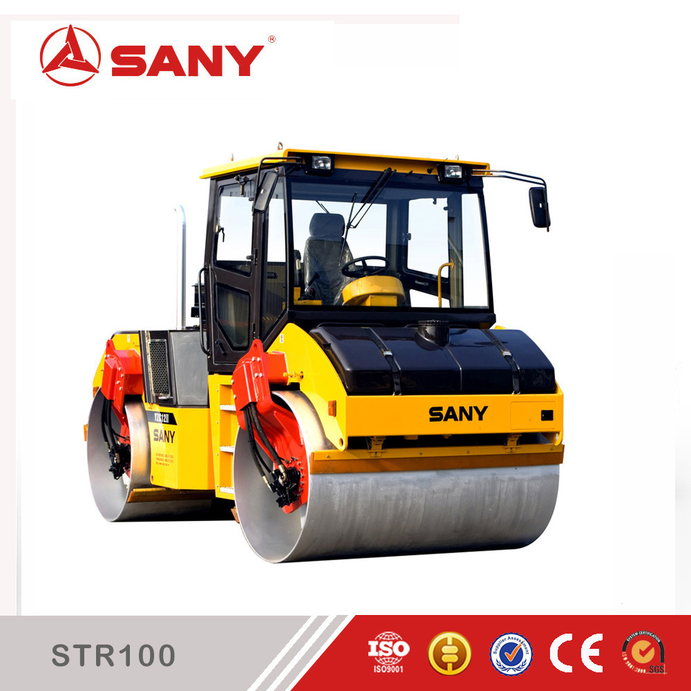 Sany Str100-6 Str Series 10 Ton Double Drum Vibratory Road Roller