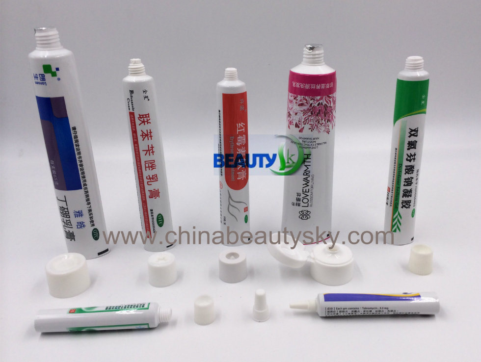 Pharmaceutical Ointment Cosmetic Packaging Cream Aluminum Plastic Laminated Tube