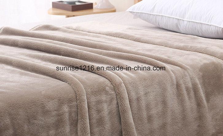 Hot Sale Sr-B170212-1 Super Soft Flannel Fleece Coral Fleece Blanket