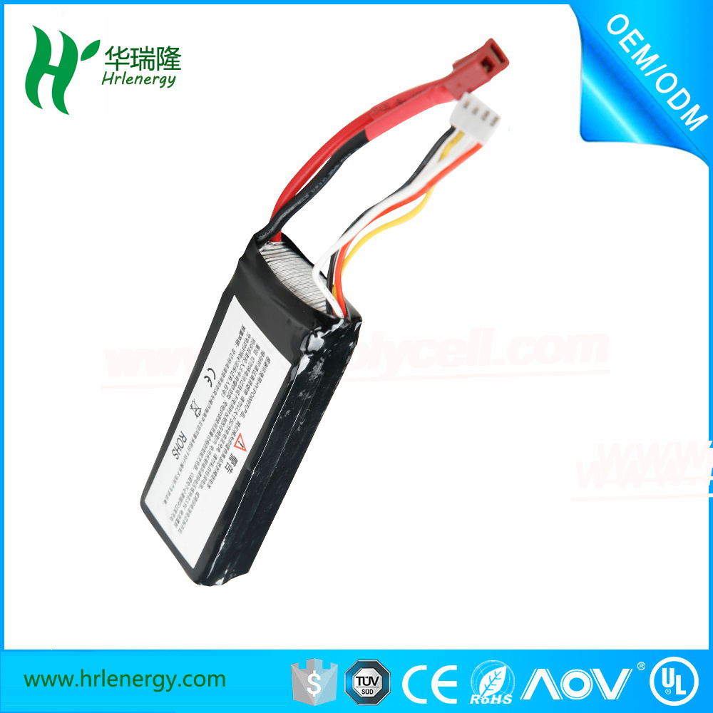 2500mAh 7.4V 25c RC Li-Polymer Battery for Quadcopter Drone