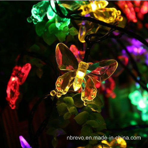 16FT 20LED Solar Powered Butterfly String Lights (RS1018)