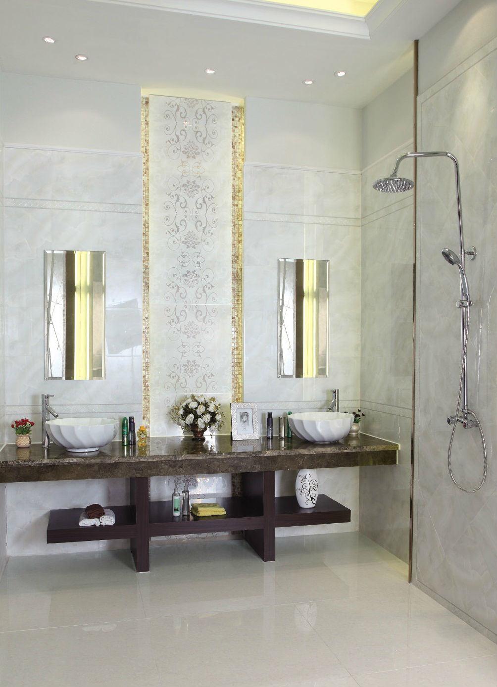 Azulejos Baño Marmol:Azulejo de mármol de la pared del gabinete de cuarto de baño del
