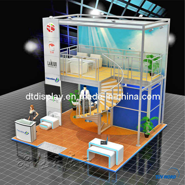 Trade Show Booth Hs Code : China m three open side double deck booth dt