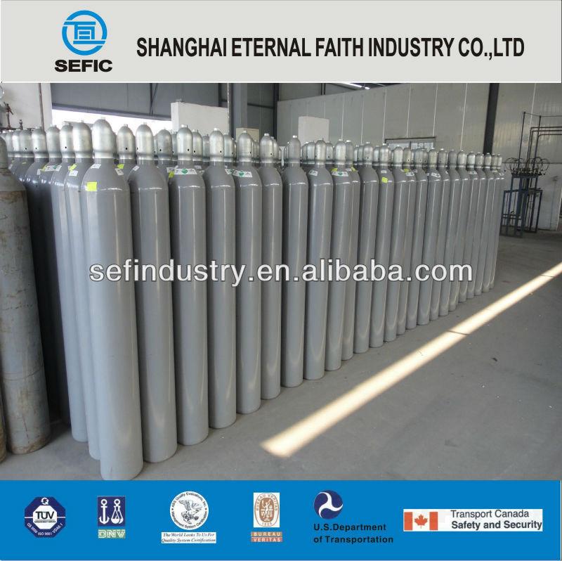 ISO9809 High Pressure Argon Oxygen Cylinder 6m3/7m3/8m3/10m3 40L 47L 50L Gas Cylinder