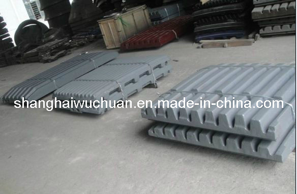 Fixed and Swing Jaw Plate for Jaw Crusher
