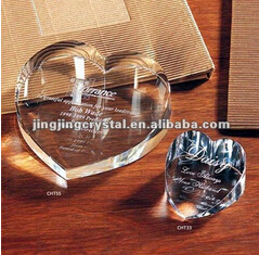 3D Laser Engraving Crystal Paperweight Wedding Paperweight Gifts