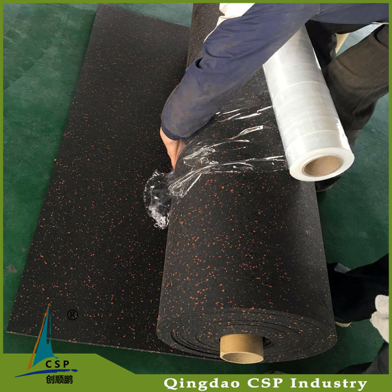 Wholesale Eco-Friendly Recycle Rubber Mat Rolls with Colorful Dots