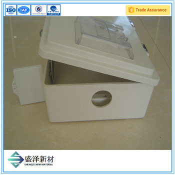 Waterproof Single Phase Electrical Energy FRP Electric Meter Box