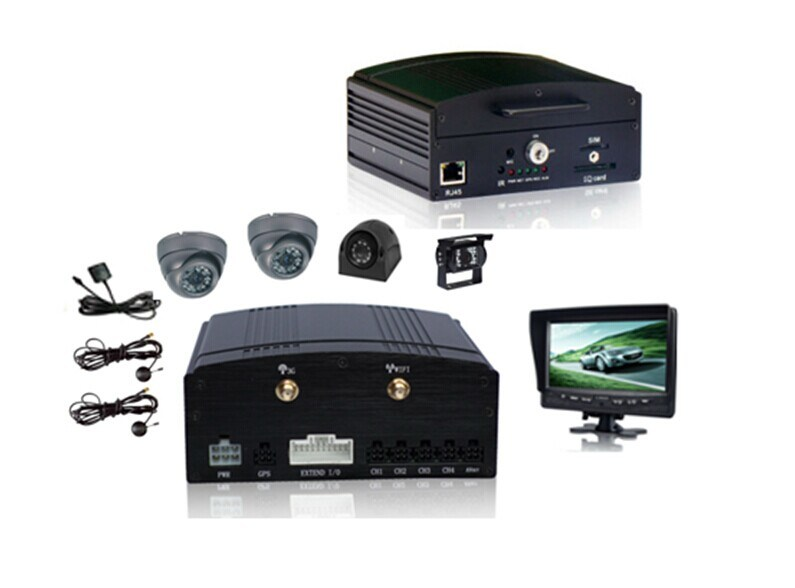 4 CH HDD Mobile DVR, Built-in GPS/3G/Wi-Fi, Real-Time Monitoring, Support Hard Disk & 64GB SD Card