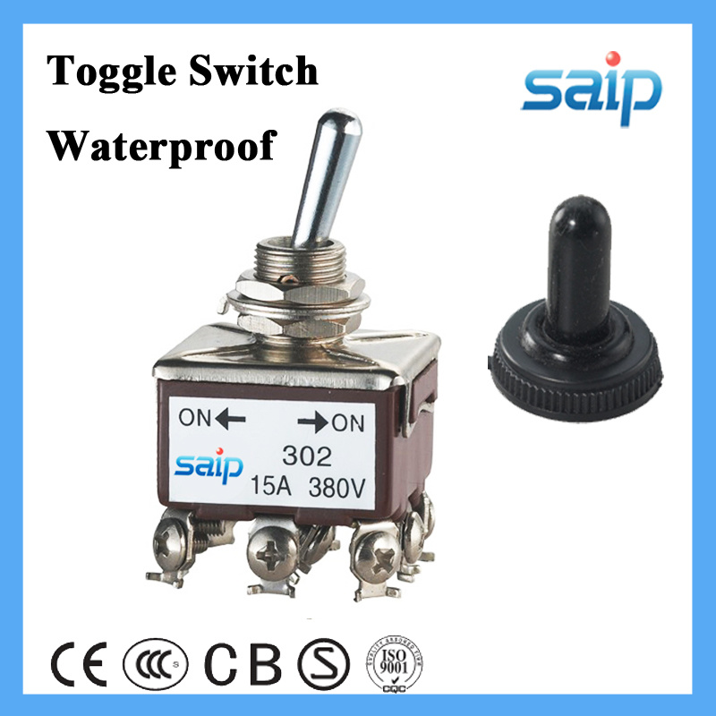 Dpdt 4p 20A on-off Toggle Switch with Waterproof Cap