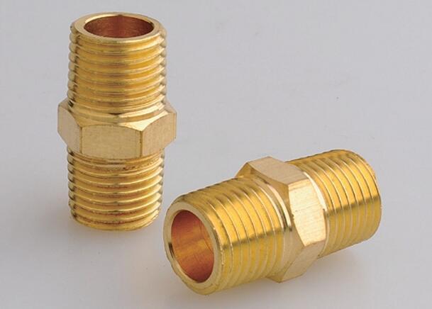 NPT Male Pipe Brass Hex Nipple