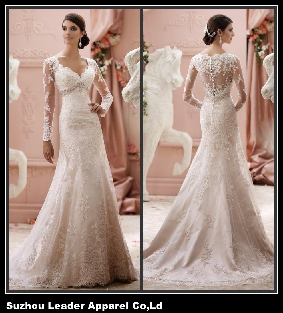 Sheer Mermaid Wedding Dress