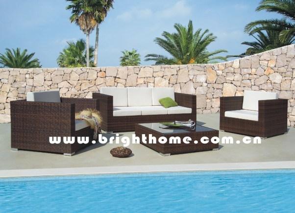 Modern Outdoor Furniture/ Aluminum Frame Rattan (Kute)
