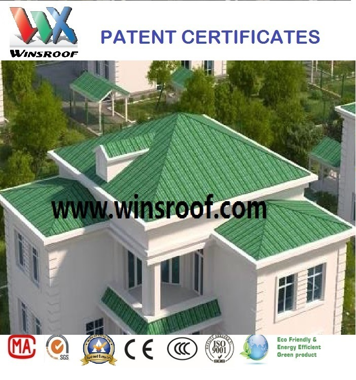 Wins ASA/PMMA Synthetic Resin Roof Tile Green Color