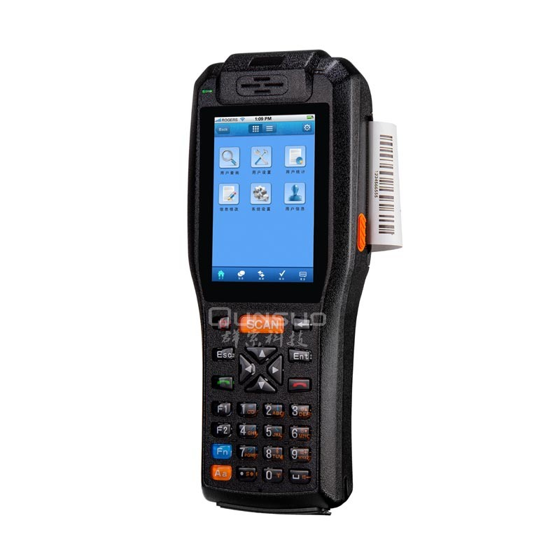 Rugged Handheld Wireless Terminal Android with Thermal Printer Rugged