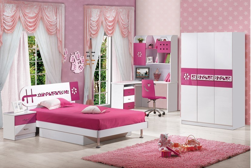 China children kids bedroom furniture set 628 china for Kids bedroom furniture sets