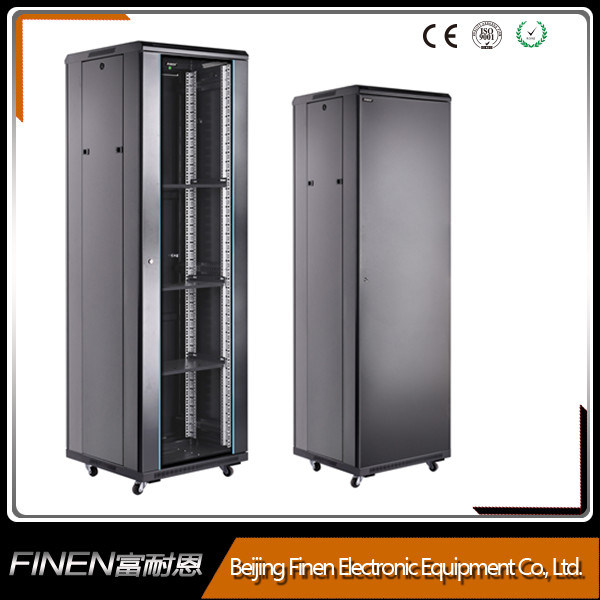 A2 Free Standing Pre Assembled 42u Glass Door Network Cabinet