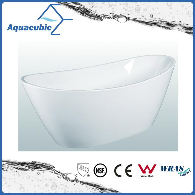 Bathroom Pure Acrylic Seamless Freestanding Bathtub