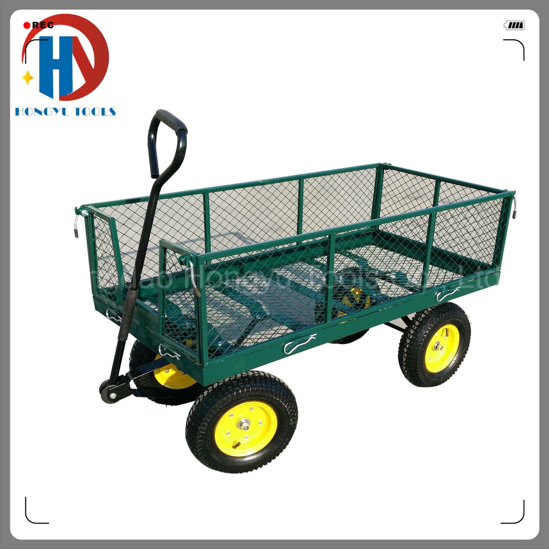 700kgs Capacity Steel Mesh Garden Cart/Utility Tool Cart