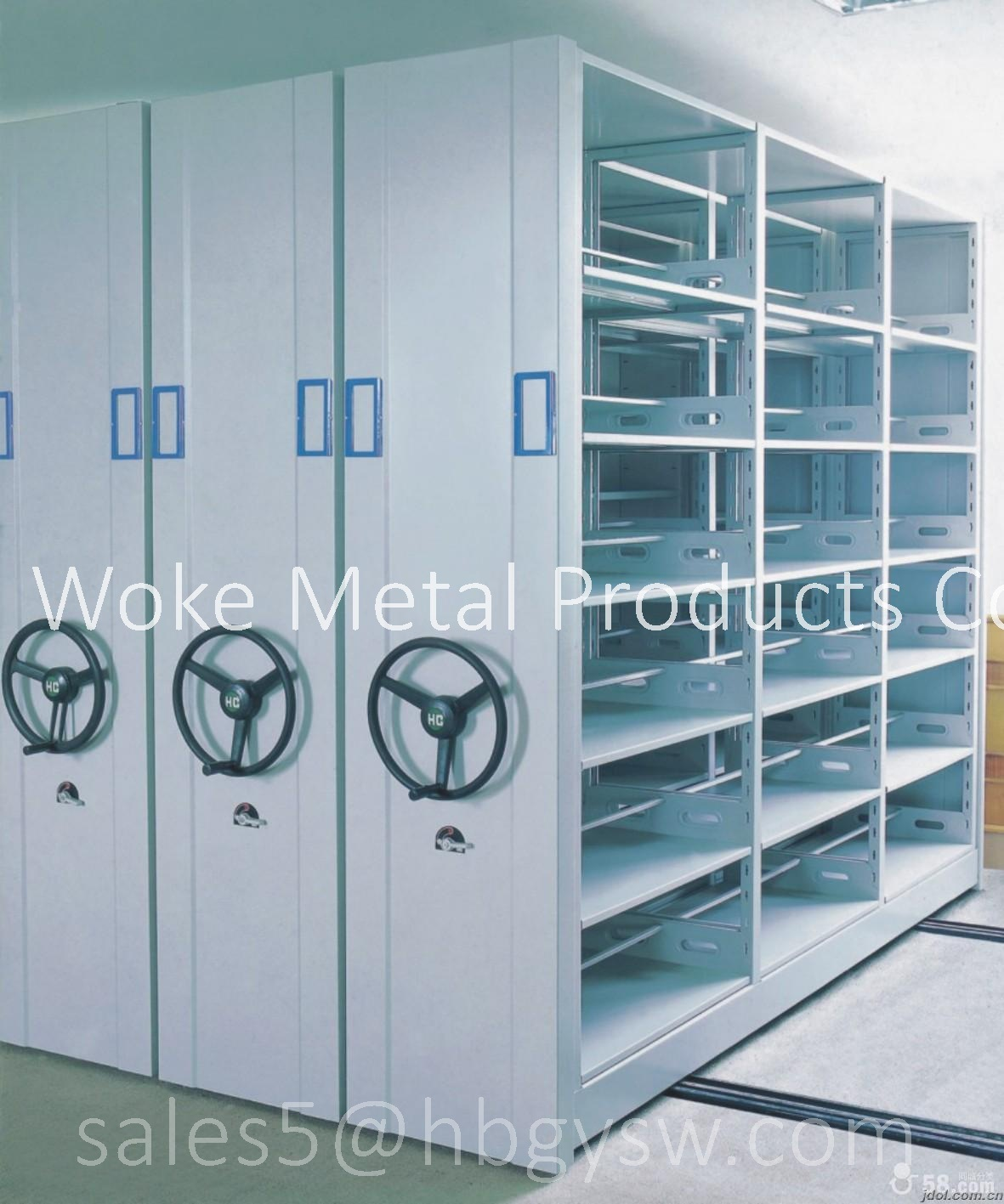 Compact Mobile Shelving for Storage