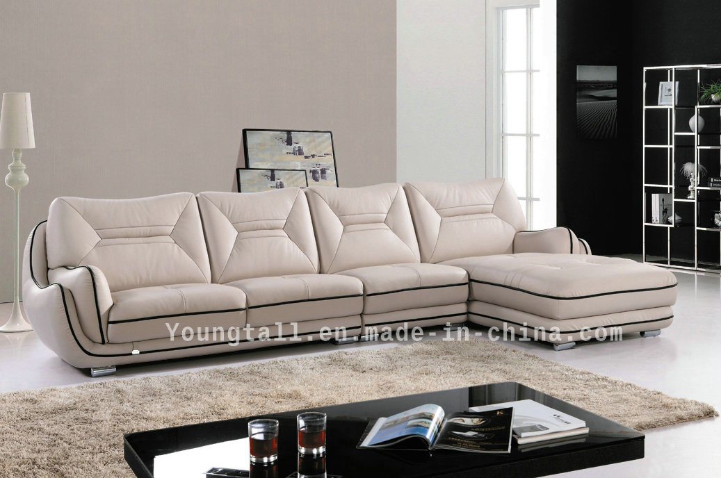 Home Furniture, Chaise Lounge Leisure Corner Leather Sofa Yk-88106#