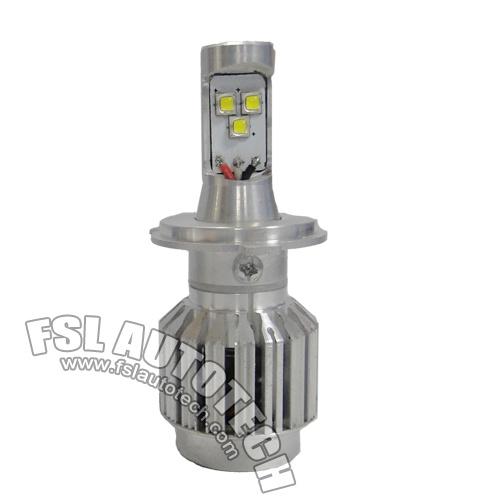 30W H4 12V P43t Auto LED Lighting Headlamp Bulb