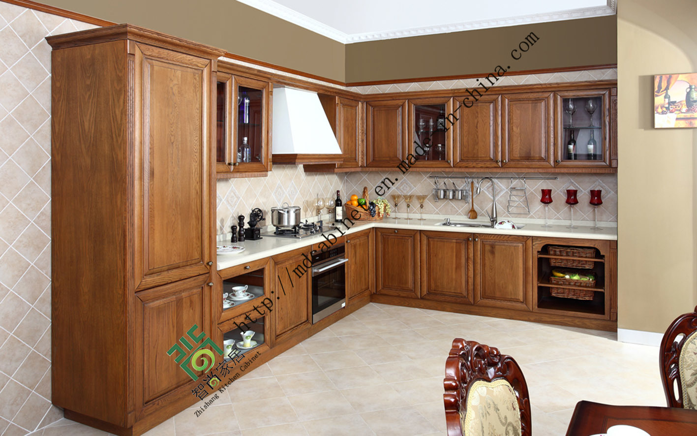 Made In China Kitchen Cabinets China Us Style Solid Wood Kitchen Cabinets Made In China Zs 302