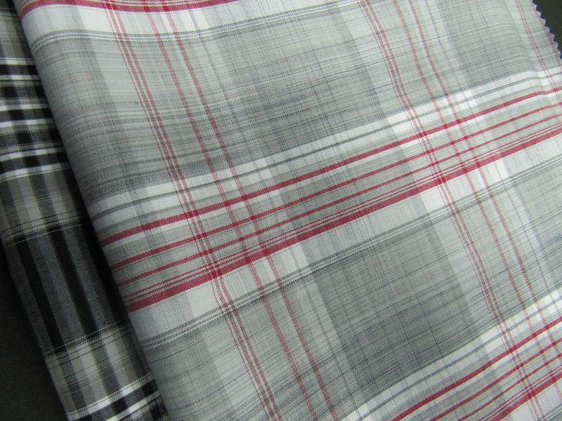 Cotton Yarn Dyed Check Poplin for Shirts