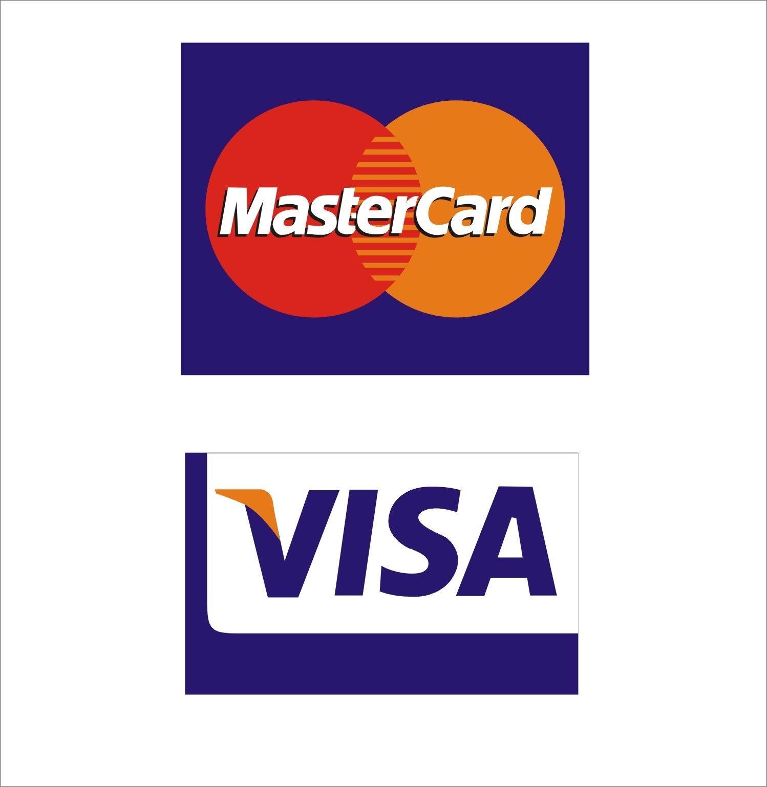 Visa/Mastercard Stick Labels - China stick label