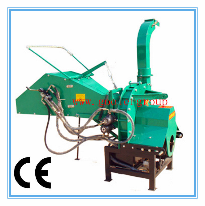 Pto Driven Wood Chipper with CE, Auto Hydraulic Feed (TH-8)