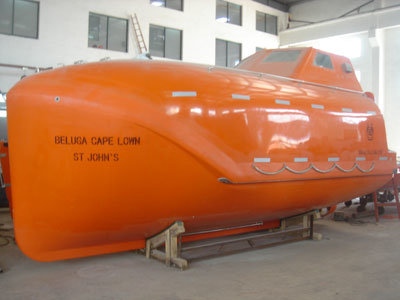 Solas Approved Marine Life Saving Equipment GRP 32 Persons Totally Enclosed Lifeboat with Davit (YZ60FF)