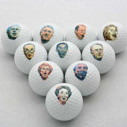 Golf Ball, 2-Piece, Practice Level, Famous Face Printing (B07108)