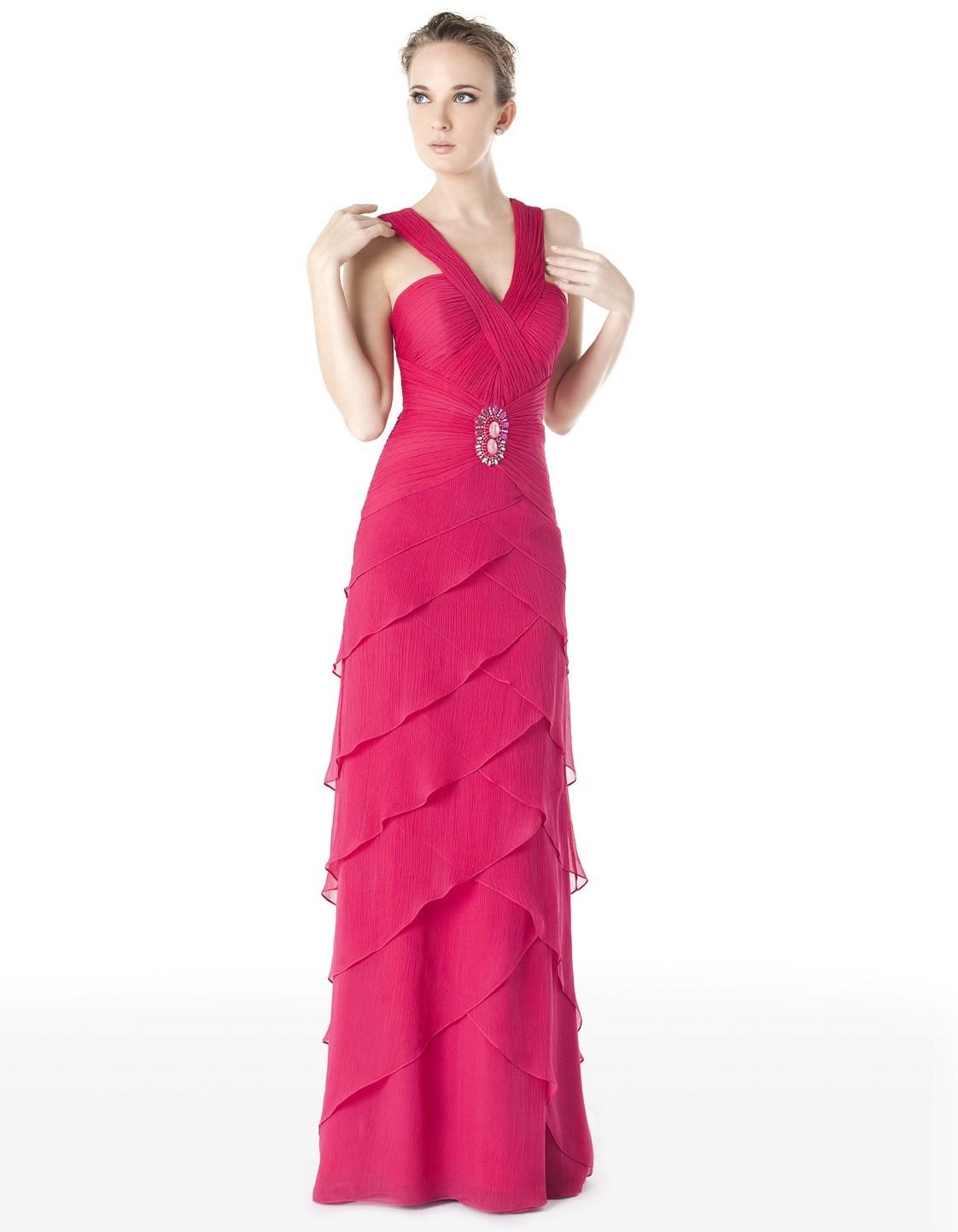 China Red Sweetheart Chiffon Prom Dress PD021 China