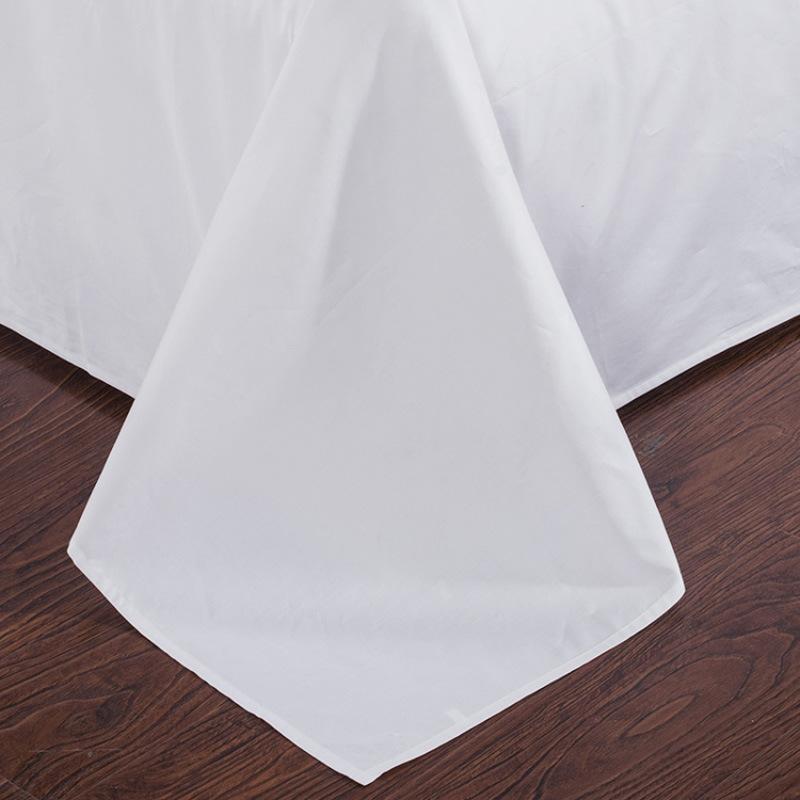 100% Cotton Satin Plain White Hotel Bedding Sets (DPF2475)