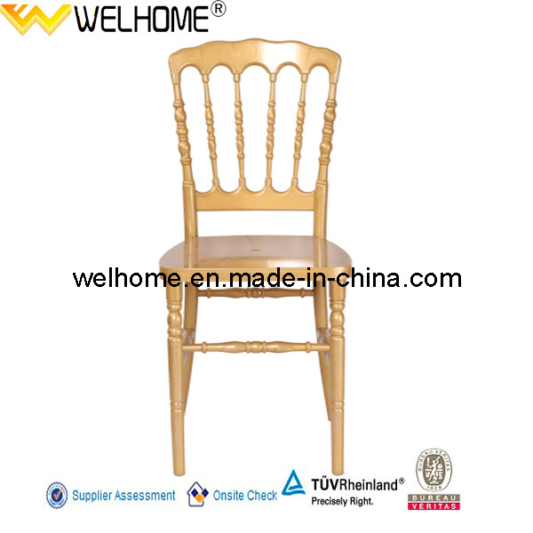 High Quality Gold Resin Napoleon Chair for Party/Wedding/Event