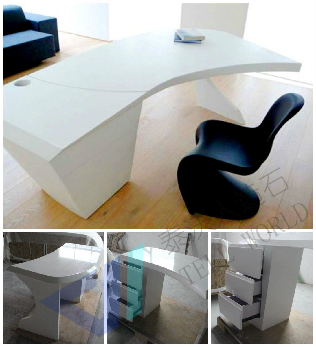 office desk commercial office furniture executive glass office desk