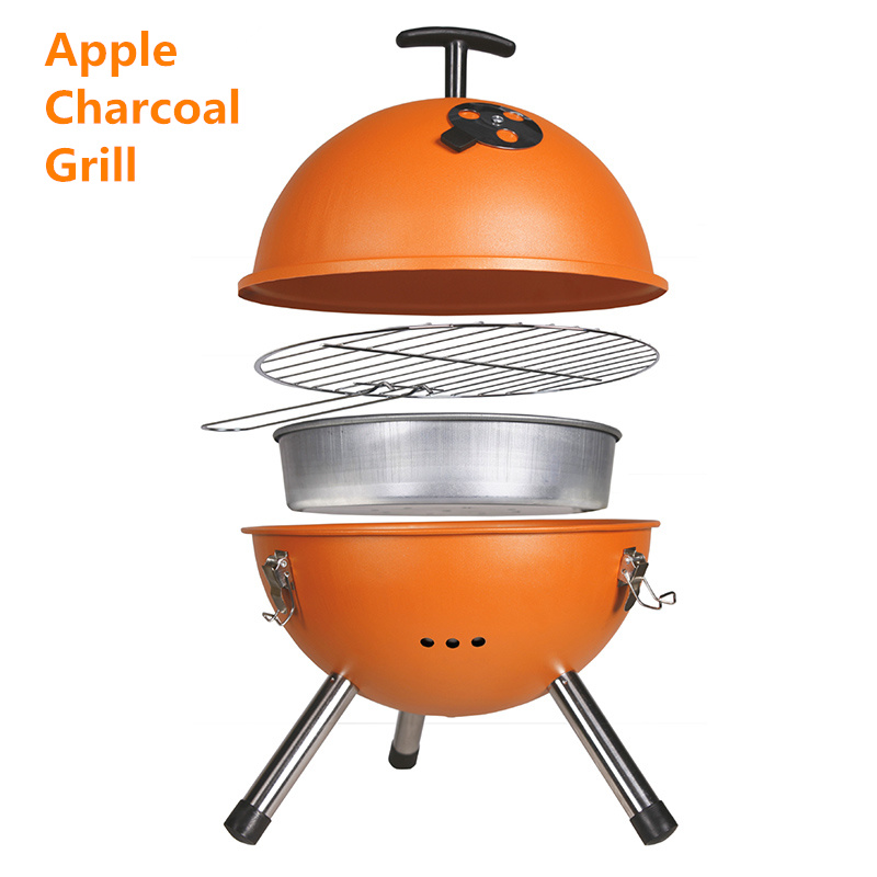 Food Grade Charcoal Football BBQ Round BBQ for Camping