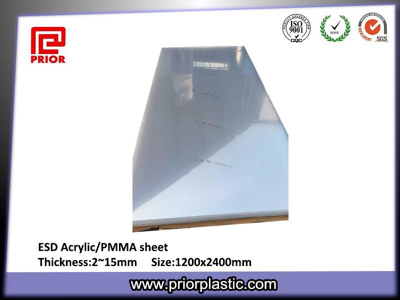 ESD PMMA Sheet/ESD Acrylic Sheet/ESD Plexiglass Sheet