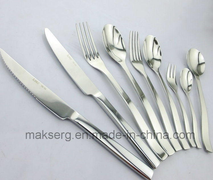 Stainless Steel 304 Cutlery Tableware Set Shiny Finish