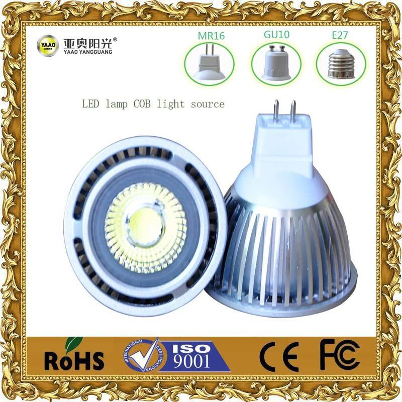 5W E27 MR16 GU10 COB LED Spotlight&LED Lamp Cup