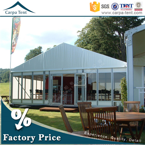 Factory Direct-Sale 15m*25m Modular Structure Glass Coffee Shop Tent