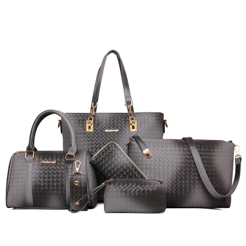 Sell Well Set Leather Bag 6PCS Fashionable Designer Handbag (XM0129)