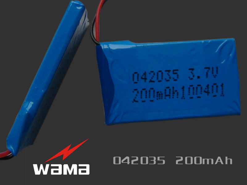 3.7V Rechargeable 042035 200mAh Lithium Polymer Battery