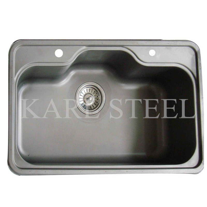 Single Stainless Steel Sink (5237)