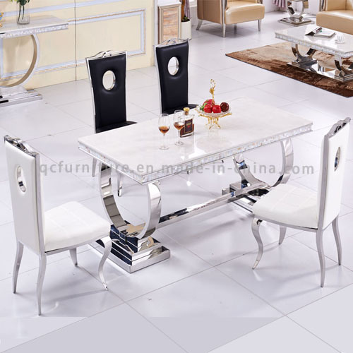 Metal Marble Dining Table with Marble Living Room Furniture