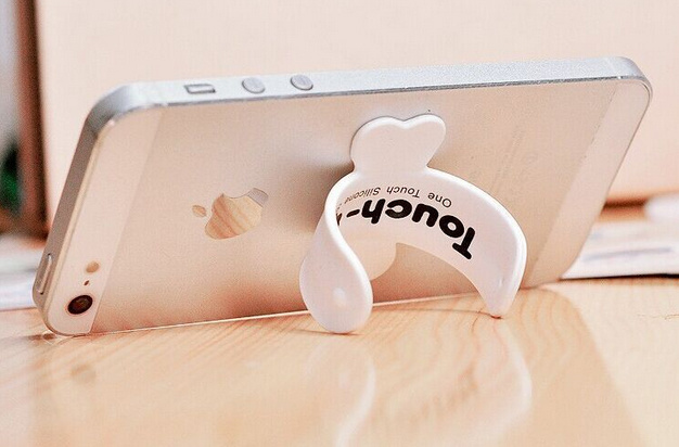 Silicone Smartphone Stand No Charger Snap Phone Stand